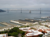 San Francisco Bay Bridge from windows