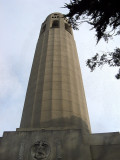 Approaching Coit Tower  entrance