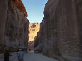 First view of the Siq or Petra gorge