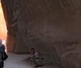 Sami enjoys guidees' first reaction to Petra City.