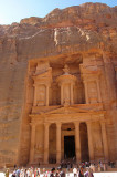 Sandstone mountan  from which Al-Khazneh is carved.  1st Century