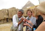 Yasser Wahab, our Egyptologist, Anita, and Phyllis and Lisa
