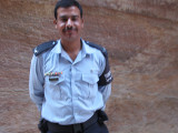 Blurred - Officer from Petra plaza