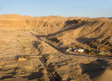 A view of the area  with Hatshepsut's temple