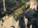 The odd Cappadocia mountain shapes