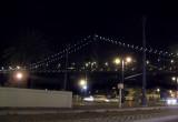 Bay Bridge at night, at Embarcadero, #1375 (no flash, 1/8 sec)
