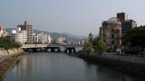 Early morning along the Motoyasu-gawa