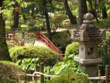 Stone lantern and vermilion bridge, Shukkei-en
