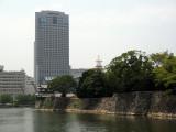 Rihga Royal Hotel looming over Taiko-yagura and moat