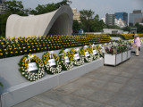 Wreaths arranged in front of the Cenotaph