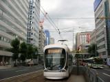 Modern streetcar on Aioi-dōri