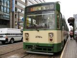 Old streetcar at Fukuro-machi