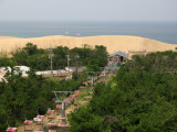 View out over the dunes and cable car