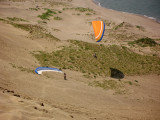 One paraglider gets a lift