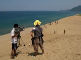 TV crew filming the scene
