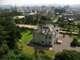 Jinpū-kaku Villa and Tottori skyline beyond