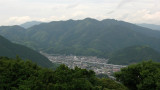 Looking down on the Shin-Iwakuni station area