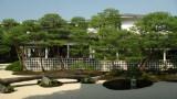 Moss garden and museum building