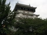 Kokura-jō peeking above the trees