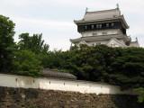Castle tenshu and neighboring wall