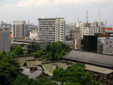 Yasaka-jinja, nearby towers and distant industry