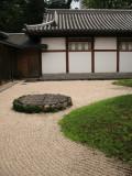Raked gravel garden in Kokura-jō-teien
