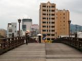 Walking onto the Tokiwa-bashi