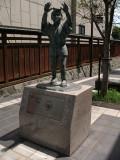 Statue of a Karatsu Kunchi Matsuri participant
