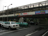A rainy morning outside JR Saga Station