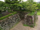 Old foundations beside the Tenshu-dai