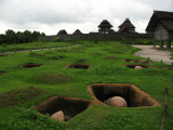 Burial jar pits with Kita-naikaku in the distance