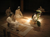 Recreation of a sacred ceremony in the palace