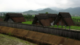 Looking over to the storehouses beyond the wall