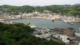 Hirado harbor viewed from the castle