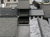 Tiled machiya roofs