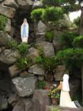 Mary figure and devotee