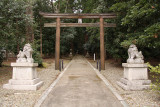 Outer torii of Wakasahiko-jinja