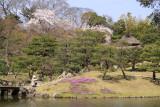 Genkyū-en with spring flowers