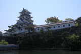 Approaching Imabari Castle