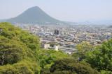 Marugame suburbs with looming Iinoyama