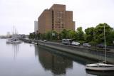 Tokushima Prefectural Office beside the Shinmachi-gawa