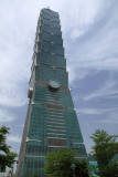 Blue skies behind the Taipei 101
