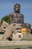 Dragon sculpture near the Buddha