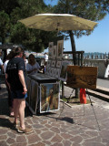 Watercolor artists off San Marco