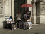 Art vendor by Chiesa di San Moisè