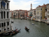 View over the Grand Canal from the bridge