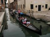 A row of gondolas