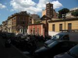 Jammed street off Via Cavour
