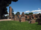 Palace remnants atop the Palatine