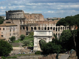 View of the Arch of Titus and Colosseum beyond
